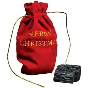 Amazon.com: Christmas Lump of Coal Naughty (With Gift Bag ...