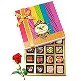 Valentine Chocholik's Belgium Chocolates - Sweet Collection Of Dark And White Truffles And Chocolate Box With...