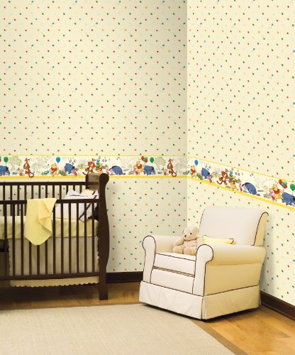 Imagen de York Wallcoverings Disney Kids DK5839BD Pooh & Friends Toile Frontera, Amarillo