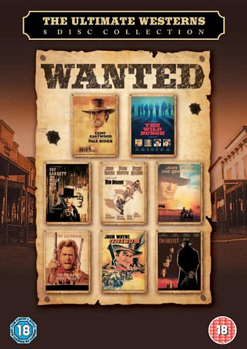 Westerns Ultimate Collection (Chisum/Pale Rider/The Searchers/Outlaw Josey Wales/The Wild Bunch Directors Cut/Pat Garrett and Billy The Kid/Rio Bravo/Unforgiven) [DVD]