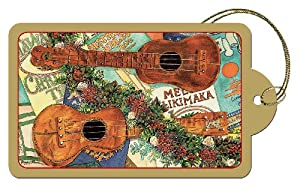 The Joyous Sound of the 'Ukulele by Peggy Chun - Set of 8 Hawaiian Art Luggage Style Deluxe Christmas Gift Tags