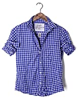 Frank & Eileen Barry in Blue + White Large Check Poplin