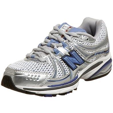 New Balance Women's WR769 NBx Stability Running Shoe,Silver/Blue,7.5 AA
