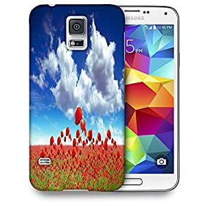 Snoogg Poppy Field Printed Protective Phone Back Case Cover For Samsung S5 / S IIIII