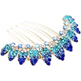 FOONEE Lovely Vintage Full Rhinestone Headpieces Flower Hair Clips