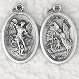 Guardian Angel with St. Michael Medal