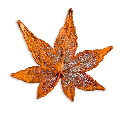 Iridescent Copper Dipped Japanese Maple Leaf Pin