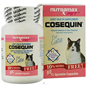 cosequin feline joint health supplement capsules for cats 50 ea bonus 5 ea. Black Bedroom Furniture Sets. Home Design Ideas