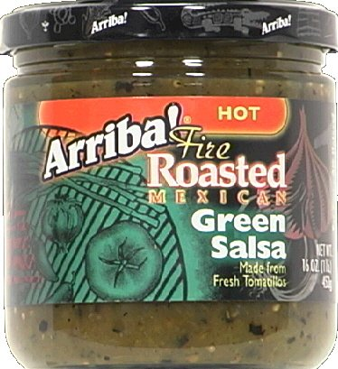 Arriba Salsa Hot Green 16.0 Oz