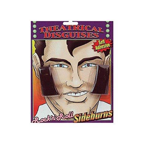 [Popcandy Rock N Roll Elvis Theatrical Sideburns] (80s Rock N Roll Costumes)