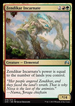 Magic: the Gathering - Zendikar Incarnate - Incarnazione di Zendikar - Magic Origins