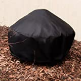 "36"" Heavy Duty Black Round Fire Pit Cover"