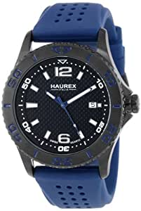 "Haurex Italy Men's 3N500UBN ""Factor"" Black Ion-Plated Stainless Steel Casual Watch"