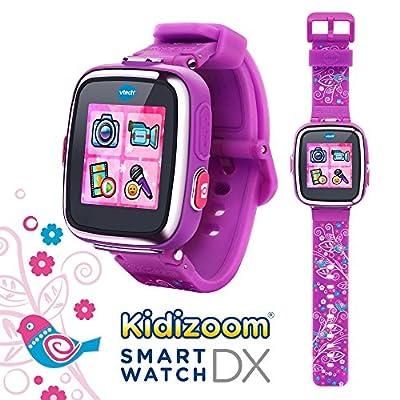 VTech Kidizoom Smartwatch DX - Special Edition - Floral Swirl with Bonus Vivid Violet Wristband