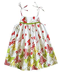 Caca Cina Girls Shoulder Strap Cotton Dress