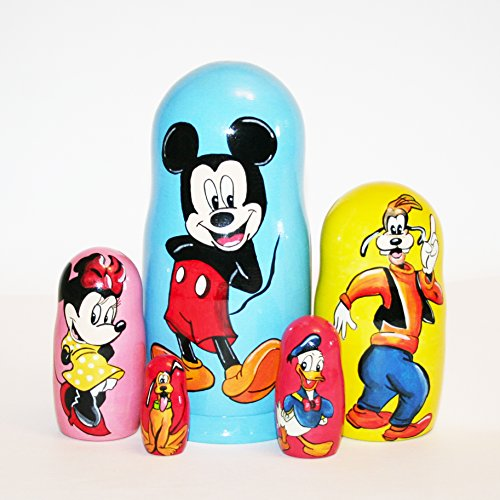 Nesting doll Mickey Mouse Disney for kids signed matryoshka russian dolls