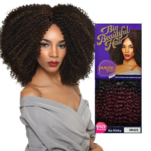 Outre-Human-Hair-Blend-Weave-Premium-Purple-Pack-1-Pack-Solution-Big-Beautiful-Hair-4A-Kinky