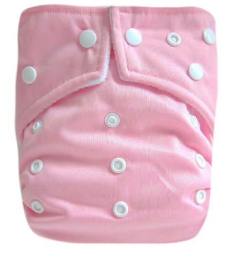 "Kawaii Baby Ultra Soft One Size Pocket Cloth Diaper with 2 Inserts "" Pink """