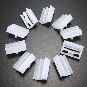 [Free Shipping] 10 x Plastic Exterior Side Sill Skirt Trim Clips for BMW 3 Series // 10 x plastique exterieur Sill jupe Trim de Clips pour BMW 3 serie