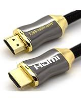 LCS - ORION - 2M - Câble HDMI 1.4 - 2.0 - Professionnel - 3D - Ultra HD 4K 2160p - Full HD 1080p - Audio Return Channel (ARC) - Signal Vidéo Haute performance avec Ethernet - Connecteurs plaqués or