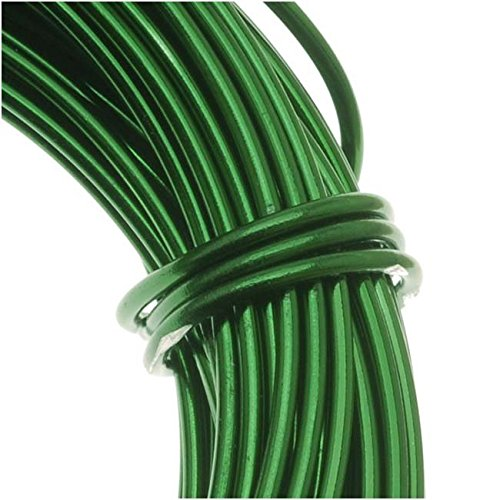 BeadSmith WCR-4110 11.8m Aluminum Craft Wire, Kelly Green, 12 gallon/39' (12 Gauge Craft Wire compare prices)