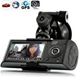 LUJII 2.7 inch screen Dual Camera 5MP Car Blackbox DVR with GPS Logger and G-Sensor X3000- New Version