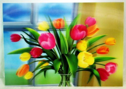 3D Lenticular Stereoscopic Print Paint Picture Flower Bouquet
