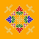 meSleep Ethnic Printed Rangoli For Festivals