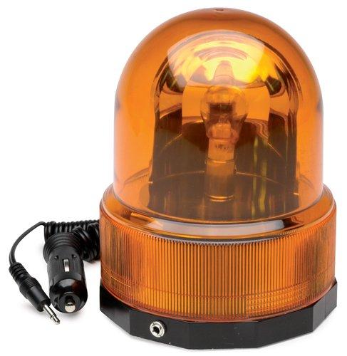 Roadpro Rpsc-728 12V Amber Revolving Warning Light With Magnetic Base