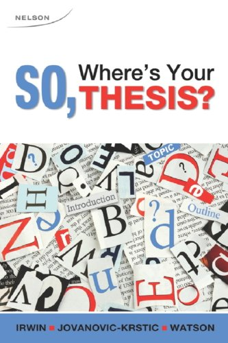 So, Where's Your Thesis?