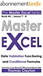 EXCEL: Master Excel: Data Validation...