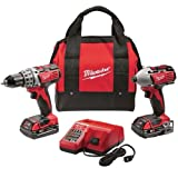 51G8iSwyz7L. SL160  Milwaukee 2691 22 18 Volt Compact Drill and Impact Driver Combo Kit