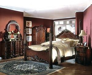 monticello cherry wood queen size poster bed bedroom set