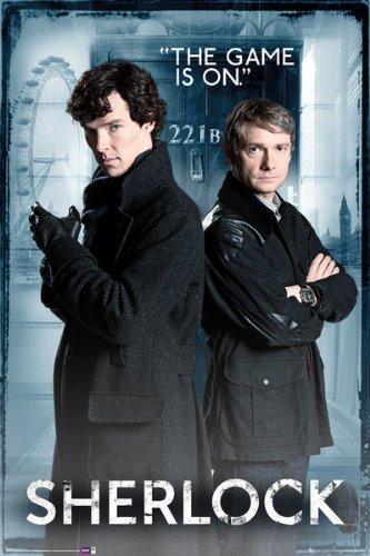 Sherlock - The Game Is On (221B Baker Street) 24x36 Poster Art Print