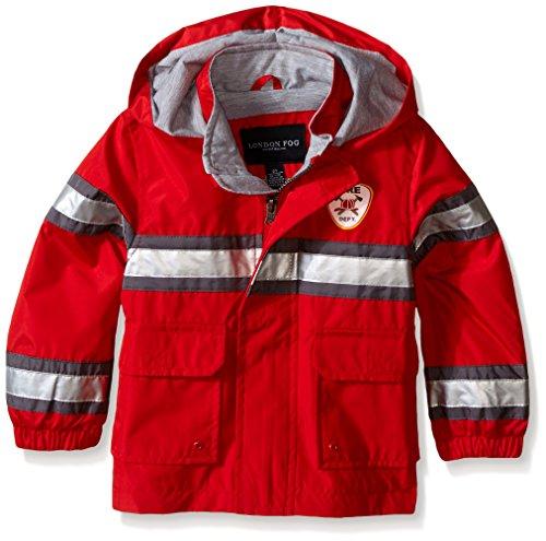 London Fog Toddler Boys Fireman Rain Slicker, Red, 3T (Rain Jacket Toddler compare prices)