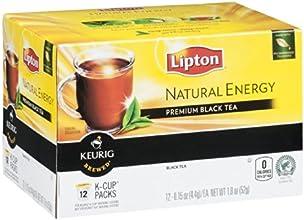 Lipton Keurig Brewed Natural Energy Premium Black Tea 18 OZ Pack of 18