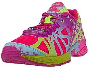 ASICS Women's GEL-Noosa Tri 9 Running Shoe (9 B(M) US, Pink/Safety Yellow/Blue Tint)