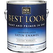 Best Look Interior Latex Satin Paint And Primer In One Wall And Trim Enamel-INT