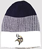 Minnesota Vikings NFL Reebok Ribbed 3 Stripe Knit Beanie Hat at Amazon.com