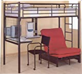 51G8pn 2LzL. SL160  Bunk Bed Loft Model & Futon Chair W Pad