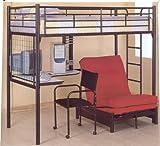 Bunk Bed Loft Model & Futon Chair W Pad