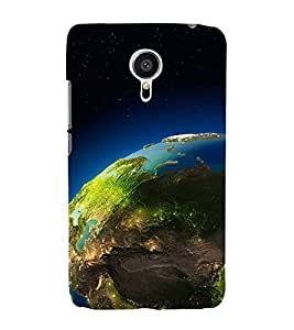 SPACE VIEW OF THE PLANET EARTH 3D Hard Polycarbonate Designer Back Case Cover for Meizu m3