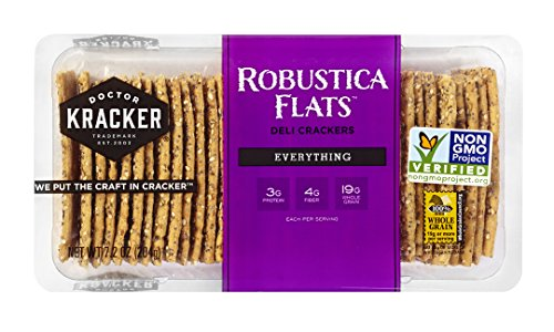 Doctor Kracker Robustica Flats Deli Crackers, Everything, 7 Ounce (Cheese Flavored Sunflower Seeds compare prices)