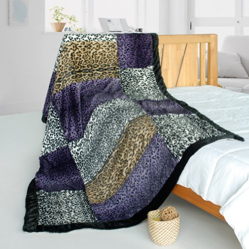 Onitiva - [Fashion Life] Patchwork Throw Blanket (61 By 86.6 Inches)