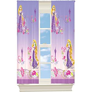 disney tangled window curtains