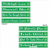 St Patrick s Day Street Sign Cutouts Party Accessory (1 count) (4 Pkg)