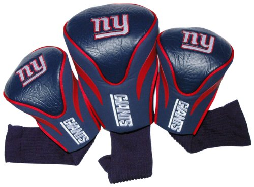 nfl new york giants 3 pack contour fit headcover sporting goods outdoor recreation golf golf. Black Bedroom Furniture Sets. Home Design Ideas