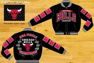 Chicago Bulls NBA Reversable Leather Champions Jacket (Medium) at Amazon.com