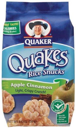 Quaker Popped Rice Snacks Apple Cinnamon 3.52 Oz (Pack of ... Quaker Rice Cakes Apple Cinnamon