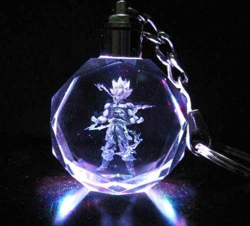 Dragon Ball Dragonball Z Crystal Led Key Chain (Super Saiyan Goku)